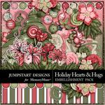Holiday Hearts and Hugs Embellishment Pack-$3.49 (Jumpstart Designs)