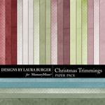 Christmas Trimmings LB Solid Paper Pack-$3.49 (Laura Burger)