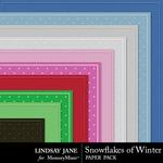 Snowflakes of Winter Embossed Paper Pack-$1.99 (Lindsay Jane)