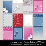 Snowflakes of Winter Journal Cards-$1.99 (Lindsay Jane)