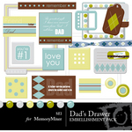 Dads Drawer Embellishment Pack-$3.00 (s.e.i)