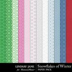 Snowflakes of Winter Pattern Paper Pack-$1.99 (Lindsay Jane)