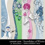 Snowflakes of Winter Borders Pack-$1.99 (Lindsay Jane)