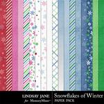 Snowflakes of Winter Paper Pack-$2.49 (Lindsay Jane)