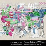Snowflakes of Winter Embellishment Pack-$3.49 (Lindsay Jane)