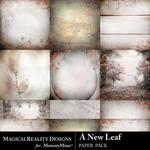 A New Leaf Paper Pack-$3.99 (MagicalReality Designs)