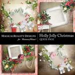 Holly Jolly Christmas QuickPage 2-$3.49 (MagicalReality Designs)