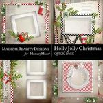 Holly Jolly Christmas QuickPage 1-$3.49 (MagicalReality Designs)
