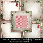 Holly Jolly Christmas Paper Pack 3-$3.99 (MagicalReality Designs)