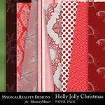 Holly Jolly Christmas Paper Pack 2-$3.99 (MagicalReality Designs)