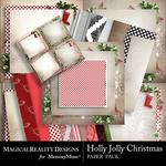 Holly Jolly Christmas Paper Bundle-$4.49 (MagicalReality Designs)