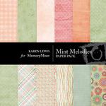 Mint Melodies Paper Pack-$3.50 (Karen Lewis)