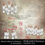 Holly Jolly Christmas WordArt Pack-$1.50 (MagicalReality Designs)