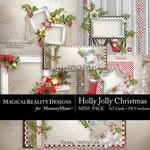 Holly Jolly Christmas Cards Pack-$2.99 (MagicalReality Designs)