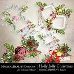 Holly Jolly Christmas Cluster Pack 2-$1.50 (MagicalReality Designs)