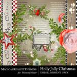 Holly Jolly Christmas Cluster Pack 1-$2.99 (MagicalReality Designs)