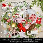 Holly Jolly Christmas Embellishments-$3.99 (MagicalReality Designs)