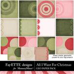 All I Want For Christmas Geo Paper-$2.99 (Fayette Designs)