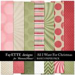 All I Want For Christmas Basics Papers-$3.99 (Fayette Designs)