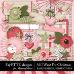 All I Want For Christmas Basics Embellishments-$3.99 (Fayette Designs)
