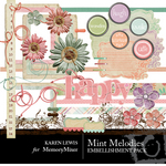 Mint Melodies Embellishment Pack-$3.00 (Karen Lewis)