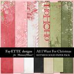 All I Want For Christmas Hotmess Solids-$3.49 (Fayette Designs)