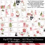 All I Want For Christmas Gift Tags-$2.99 (Fayette Designs)