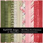 All I Want For Christmas Patterned Paper-$3.99 (Fayette Designs)