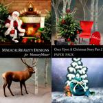Upon a Christmas 2 Scenes Paper Pack 1-$2.00 (MagicalReality Designs)