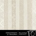 Merry and Bright ID Embossed Paper Pack-$2.99 (Indigo Designs)