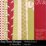 Holiday Love Paper Pack 2-$3.49 (Amy Teets)