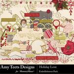 Holiday Love Embellishment Pack-$3.49 (Amy Teets)