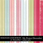 My Project December Solids Paper Pack-$3.49 (Laura Burger)