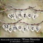 Winter Memories MR Alphabet Pack-$3.49 (MagicalReality Designs)