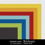 Bricktopia Embossed Paper Pack-$1.40 (Lindsay Jane)