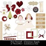 Christmas Angels Embellishment Pack-$3.50 (Amy Sumrall)