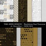 Resolutions Start Tomorrow Paper Pack-$2.99 (Tara Reed Designs)