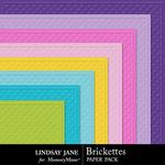 Brickettes Embossed Paper Pack-$1.99 (Lindsay Jane)
