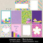 Brickettes Journal Cards-$1.99 (Lindsay Jane)