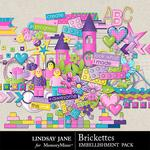 Brickettes Embellishment Pack-$3.49 (Lindsay Jane)