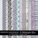 A Midnight Kiss Patterned Paper Pack-$3.49 (Laura Burger)