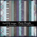 Party People Patterned Paper Pack-$2.99 (Fayette Designs)
