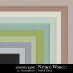 Natural Wonder Embossed Paper Pack-$1.99 (Lindsay Jane)