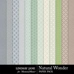 Natural Wonder Pattern Paper Pack-$1.99 (Lindsay Jane)