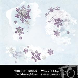 Winter holidays accents medium