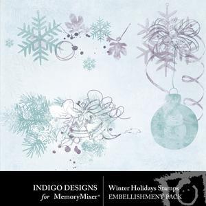 Winter holidays stamps medium