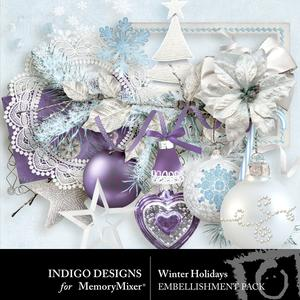 Winter holidays embellishments medium