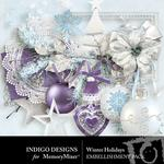 Winter holidays embellishments small