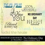 No Ordinary Day WordArt Pack-$2.49 (Laura Burger)