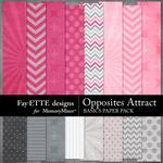 Opposites Attract Basics Paper Pack-$2.10 (Fayette Designs)